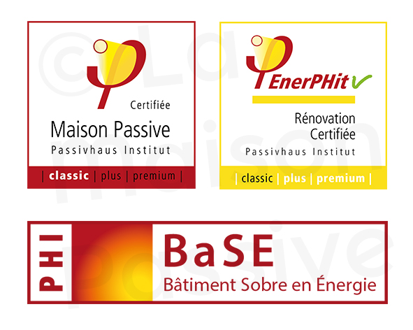 L'ensemble des certifications passives délivrées par La Maison Passive